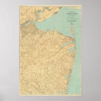 Monmouthの海岸、ニュージャージー ポスター