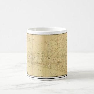 Monmouth郡ニュージャージー1781年のジョンの丘の地図 コーヒーマグカップ