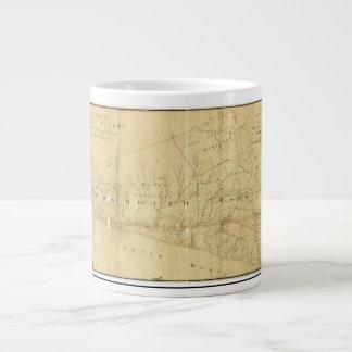 Monmouth郡ニュージャージー1781年のジョンの丘の地図 ジャンボコーヒーマグカップ