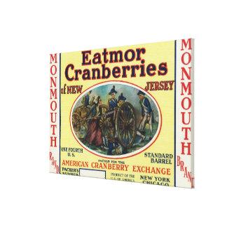 Monmouth Eatmorのクランベリーのブランド・ラベル キャンバスプリント