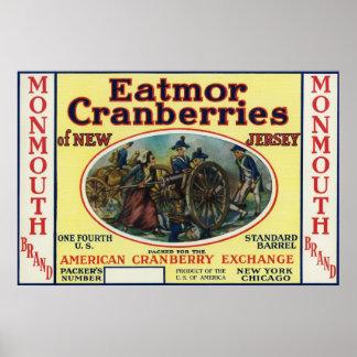 Monmouth Eatmorのクランベリーのブランド・ラベル ポスター