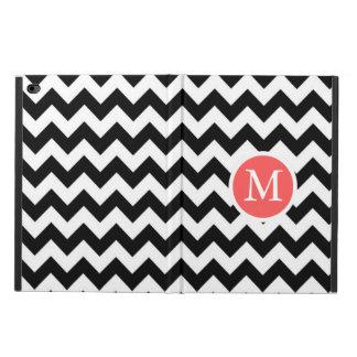 Monogramedの白黒レトロのジグザグ形シェブロン Powis iPad Air 2 ケース