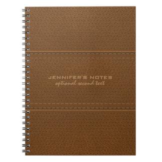 Monogramedブラウンのヴィンテージの模造のな革質 ノートブック