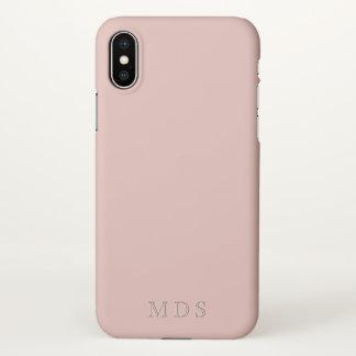 Monogrammed Millennial Pink iPhone X Phone Case iPhone X ケース
