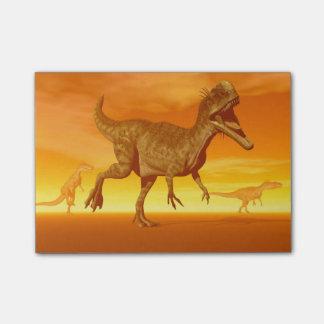 Monolophosaurusの恐竜3Dは描写します ポストイット