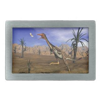 Mononykusの恐竜の狩り- 3Dは描写します 長方形ベルトバックル