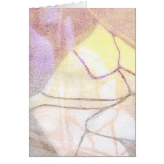 Monotypeのプリント3 カード