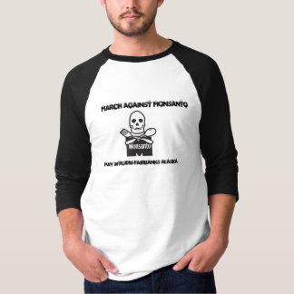 MONSANTOの2016年のTシャツに対するメンズ3月フェアバンクス Tシャツ