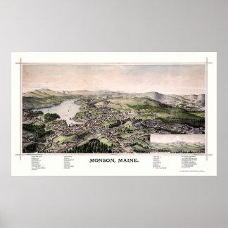 Monsonの私パノラマ式の地図- 1889年 ポスター