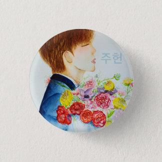 Monsta Xの水彩画Jooheon 3.2cm 丸型バッジ