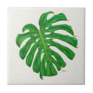 Monsteraの熱帯葉のセラミックタイル タイル