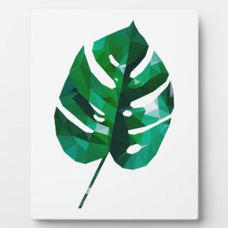 Monsteraの葉のデザイン フォトプラーク