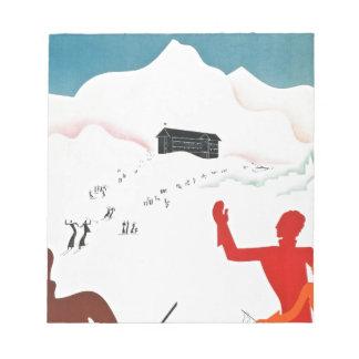 Montジュネーブのヴィンテージの観光事業ポスター ノートパッド