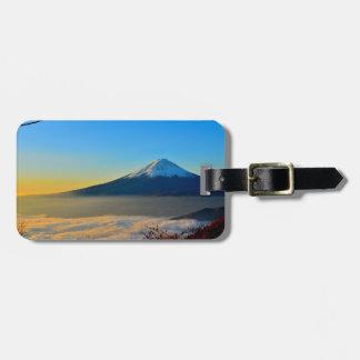 Mont Fujisanの荷物のラベル ラゲッジタグ