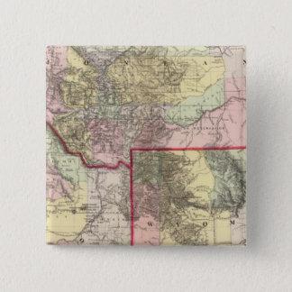 Mont、Ida、Wyo 5.1cm 正方形バッジ