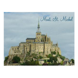 Mont Sintマイケルユネスコの伝統の場所、フランス ポストカード