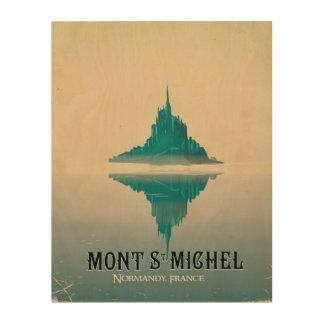 mont stマイケルのヴィンテージ旅行ポスター ウッドウォールアート