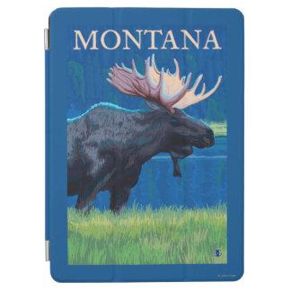 MontanaMooseのヴィンテージ旅行ポスター iPad Air カバー