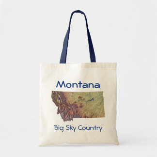 Montananの地図のバッグ トートバッグ