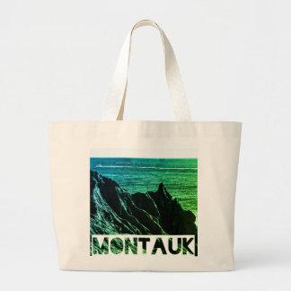 montaukの戦闘状況表示板 ラージトートバッグ