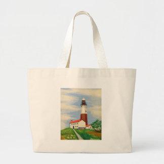 Montaukの灯台 ラージトートバッグ