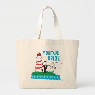 Montaukの花嫁のギフト ラージトートバッグ