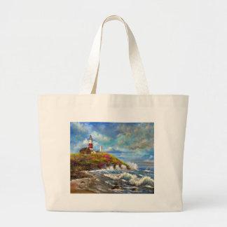 Montaukポイント灯台 ラージトートバッグ