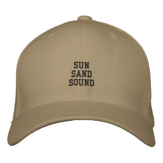 Montauk日曜日、砂および音 刺繍入りキャップ