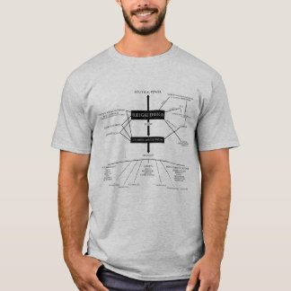 Monteスミスバビロンの図表の灰色のワイシャツ Tシャツ