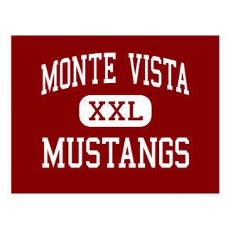 Monteヴィスタ-ムスタング-高Danville ポストカード
