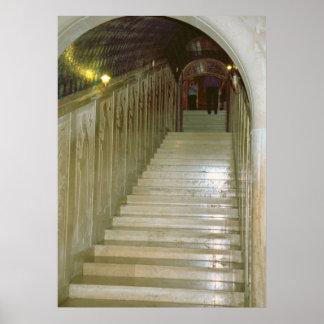 Montecassinoの大理石の階段 ポスター