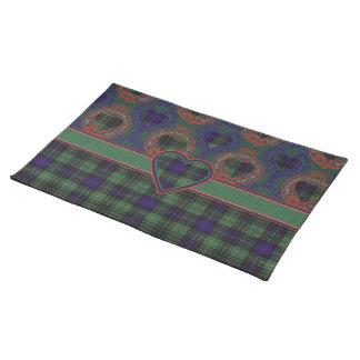 Monteithの一族の格子縞のスコットランドのキルトのタータンチェック ランチョンマット