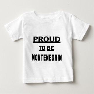 Montenegrinあること誇りを持った ベビーTシャツ