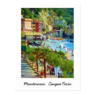Monterosso、Cinque Terre、イタリア ポストカード