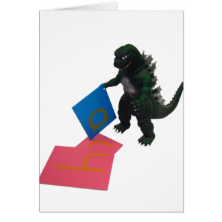 Montessaurus及び砂のペーパー手紙のメッセージカード カード