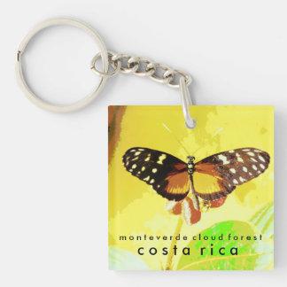 Monteverdeの雲の森林、コスタリカの蝶 正方形(片面)アクリル製キーホルダー