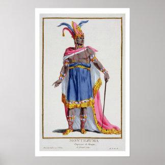 Montezumaのメキシコ(1466-1520年) 1780年の皇帝 ポスター