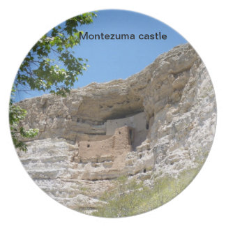 Montezumaの城のプレート プレート