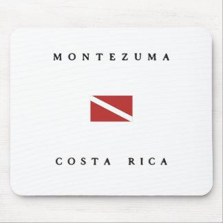 Montezumaコスタリカのスキューバ飛び込みの旗 マウスパッド