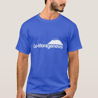 MontgenevreのTシャツ色は行きます Tシャツ