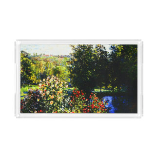 Montgeronの庭のクロウドのMonetバラ アクリルトレー