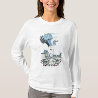 Montgolfierの兄弟の熱気球の上昇 Tシャツ