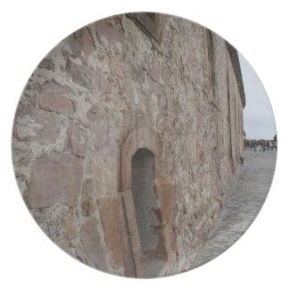Montjuicの城、バルセロナ プレート