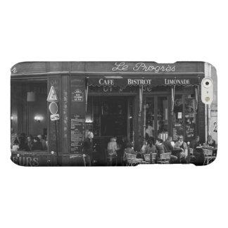 Montmartre、パリの白黒カフェ マットiPhone 6ケース