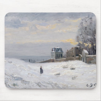 Montmartre 1869年の雪 マウスパッド