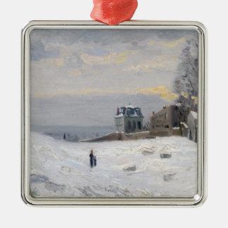 Montmartre 1869年の雪 メタルオーナメント