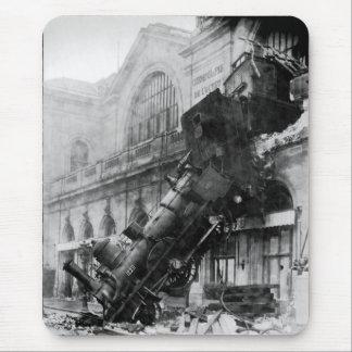 Montparnasseの列車の大破、鉄道災害 マウスパッド