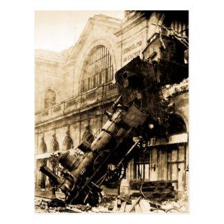 Montparnasseの列車の大破、1895年10月22日 はがき