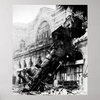 Montparnasseの列車の大破、1895年10月22日 ポスター