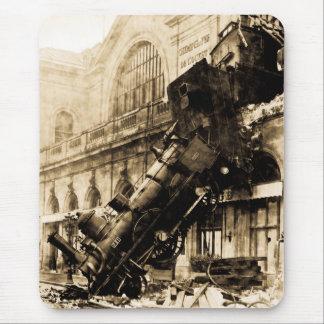 Montparnasseの列車の大破、1895年10月22日 マウスパッド